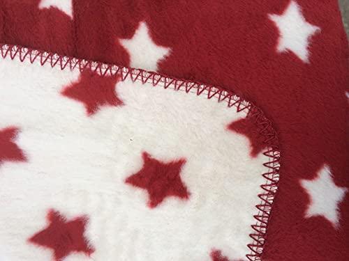 Richter Textilien Decke Sirius 150 x 200 cm Bio-Baumwolle Natur/Mohn