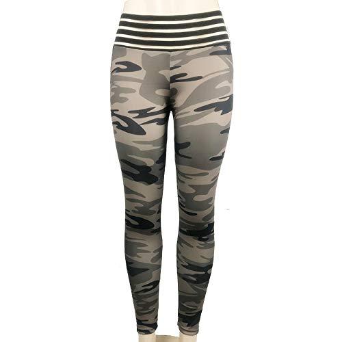 NIGHTMARE Pantalones de Yoga Correr Mujer Correr Legging, Joggers Pantalones para Bajar de Peso Gimnasio Leggings Power Stretch Workout Running XL