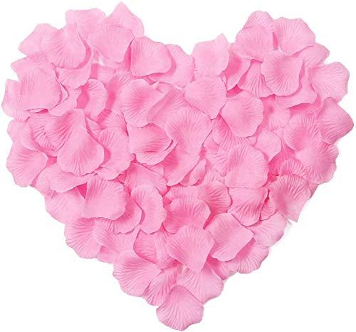 Yongbest Pétalos de Rosa Artificiales, 2000 Piezas Pétalos de Flores de Seda...