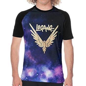 Maverick Bird Gold Logan Paul Men s 3D Printed Casual Raglan Baseball Short Sleeve Shirt