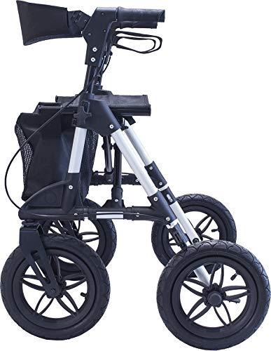 Antar AT51031 aluminium outdoor rollator met luchtbanden voor bos- en veldwegen