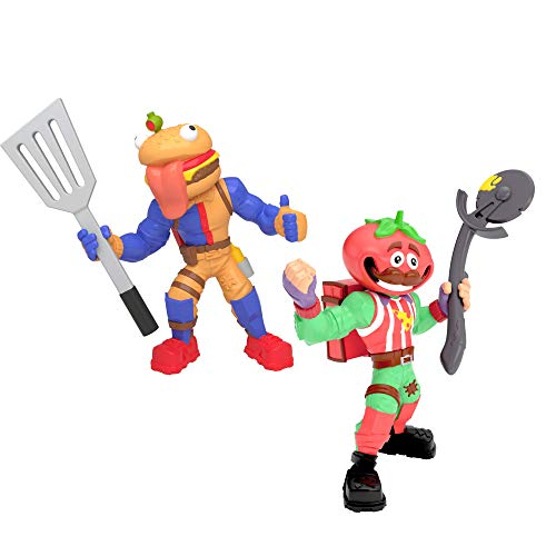 Fortnite Battle Royale Collection: Tomatohead & Beef Boss - 2 Pack of Action Figures, Multicolor (63579)