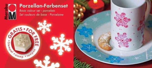 Marabu Porzellanfarbe Porcelain, WeihnachtsStarterset
