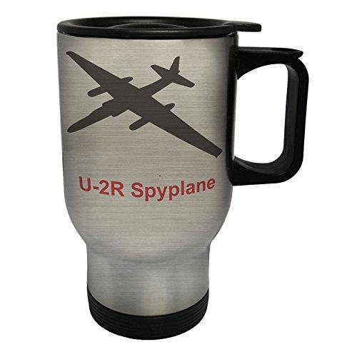 INNOGLEN u-2r_spyplane Fire Jet Plane Pilot Jet Vintage Tasse de Voyage Thermique en Acier Inoxydable 14oz 400ml c650ts
