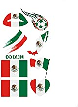 2018 Russia World Cup Tattoo Cheerleading Temporary National Flag Stickers Face Body Sticker for Mexico Soccer Fans