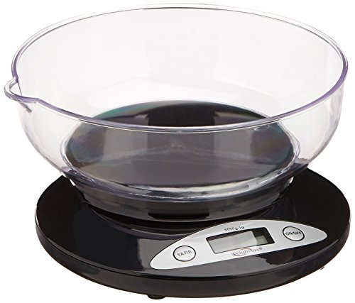 Weighmax W-2810-5KG-BLACK Digital Multifunction Kitchen and Food Scale with Bow, 11-Pound, Black