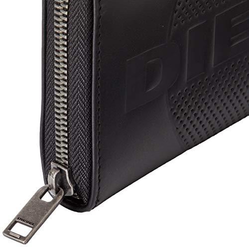 (ディーゼル)DIESELメンズレザージップ付き長財布X06650PR160UNIブラックT8013