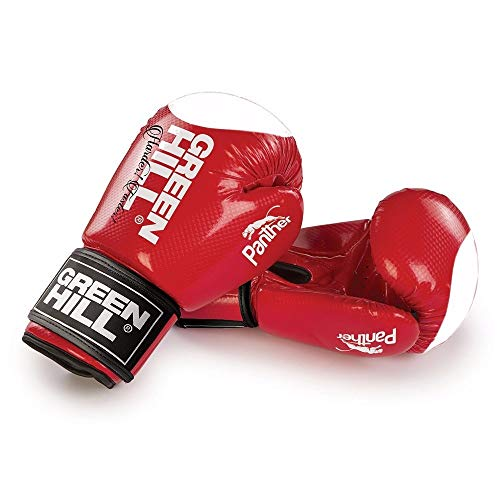 Green Hill Boxing Gloves Panther with Target (Red,16 oz)