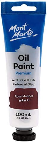 Mont Marte Premium Oil Paint, 100ml (3.4oz), Titanium White, Good Coverage, Excellent Tinting Strength