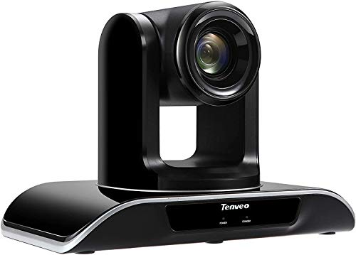 Tenveo VHD102U | Cámara de conferencias Zoom óptico de 10x 1080p Full-HD, cámara Web PTZ USB Gran Angular con Control Remoto