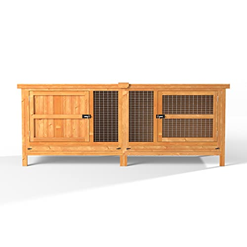 6ft Chartwell Single Tier Outdoor Rabbit Hutch | XL Wooden Pet House For Small Pet Rabbits or Guinea Pigs | The Biggest 6ft Single Pet Cage on Amazon