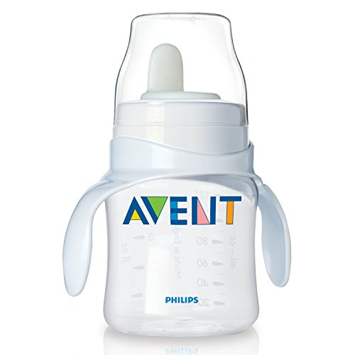 Philips AVENT BPA Free magic Trinklernbecher Training Cup - 4 Months + Clear weiss
