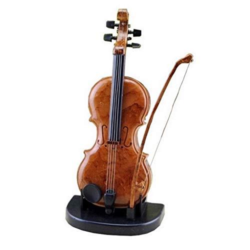 ZHBH Caja de música con diseño de violín Creativo con más de una canción, Movimiento Plateado, Caja de Regalo Musical