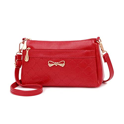Fascigirl Faux Leather Satchel Bag Reusable Zipper Crossbody Bag Work Shoulder Bag Casual Shoulder Bag Casual