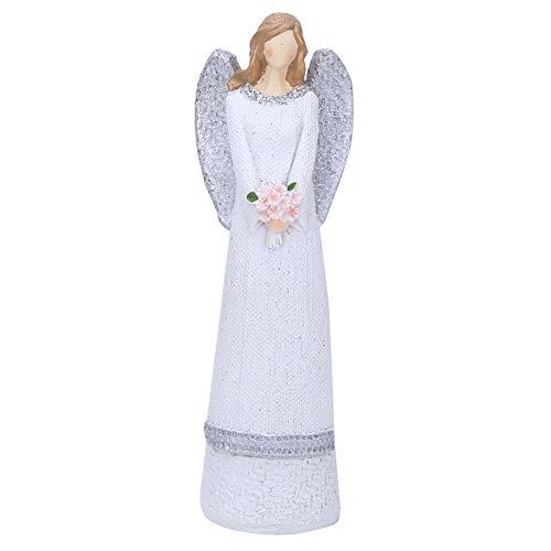 20 Cm Estatuilla Resina de Ángel Belleza Blanca Figura Esculpida Adornos de Mesa Pintado a Mano Estatuilla de...