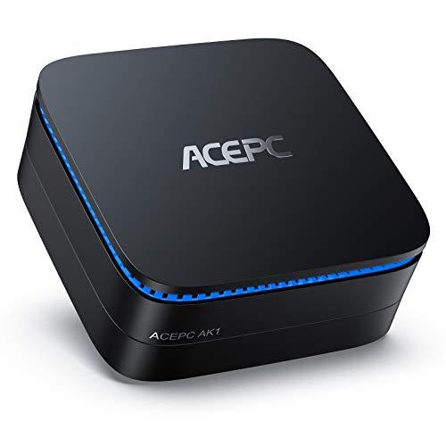 "Mini PC, ACEPC AK1 6GB RAM/120GB ROM Mini Computer Windows 10 Pro Intel Celeron Processor J3455 Desktop Computer Support 2.5"" SSD/mSATA SSD/4K HD/Dual HDMI/Gigabit Ethernet/Dual-Band"