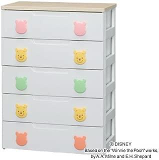 アイリスオーヤマ ディズニー チェスト 収納ボックス 棚 子ども用チェスト プーさん 5段 幅73cm PHG-725H
