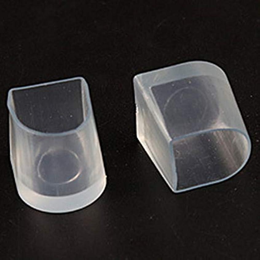海外で真鍮一部1ペアハイヒール保護カバーラテンスティレットダンスカバーヒールストッパー滑り止め耐摩耗性(Color:transparent)(Size:M)