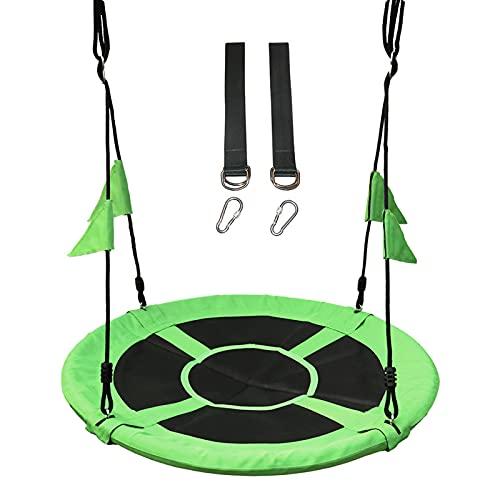 Flytise Altalena per bambini da 39,4', portata 661 lb, telaio robusto, impermeabile, regolabile, set di corde e bandiere bonus e 2 moschettoni