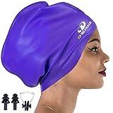 Dsane Extra Large Swimming/Shower Cap for Women and Men,Special Design Swim Cap