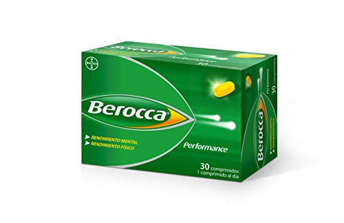 Berocca Performance Complejo de Vitaminas y Minerales Sin Cafeína, Contribuye al Rendimiento Mental y Físico, 30 Comprimidos