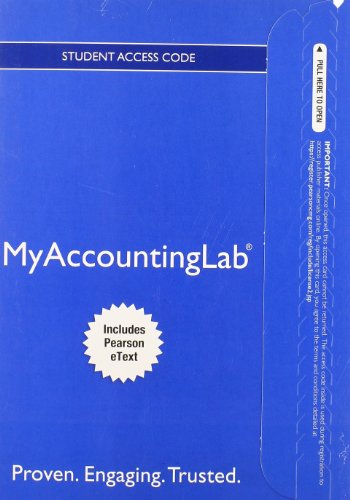 Price comparison product image NEW MyLab Accounting with Pearson eText -- Access Card -- for Managerial Accounting
