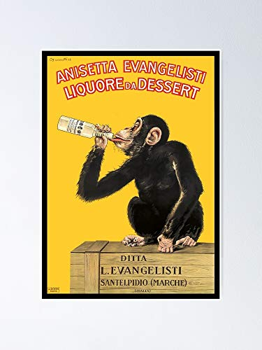 AZSTEEL 1925 Anisetta Evangelista Póster publicitario italiano