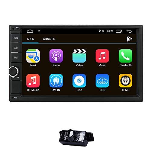 Universel 2DIN de Voiture Auto Radio Navigation GPS, 17,8 cm écran Tactile Android 8.1 OS 2 Go de RAM dans Dash Lecteur multimédia WiFi BT Support Dab +/Digital TV/OBD2/DVR/TPMS/4G réseau