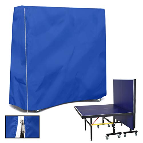 HALOKETI Funda para Mesa de Ping-Pong,Oxford,Impermeable,Anti-UV,contra el Polvo,Protección Integral,Mesa de Tenis de Mesa (Azul Oscuro