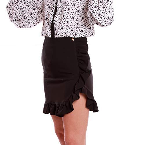 QUEGUAPA FSCA 7358 - Falda de tubo para mujer, elegante, color negro Negro 42