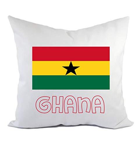 Typolitografie Ghisleri kussen Ghana vlag kussensloop en vulling 40 x 40 cm van polyester