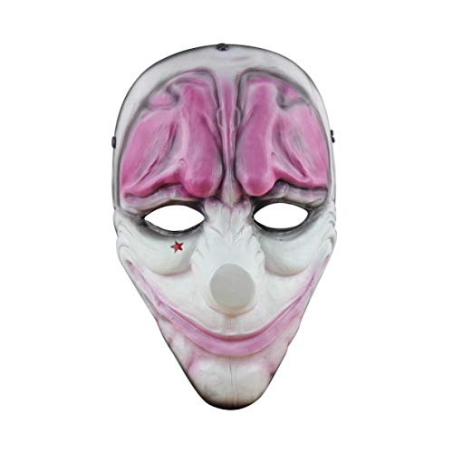 FLOWMASH Halloween Mask, Payday 2 Theme Game Mask for Horror Cosplay Party, Fencing, War-Game, Costume Play and More (Payday2 Hoxston)