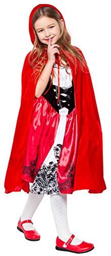 Lelike Kinderkostüm Rotkäppchen Kostüm Kinder Mädchen Rotkäppchen-Cape Faschingskostüme Karnevalskostüm