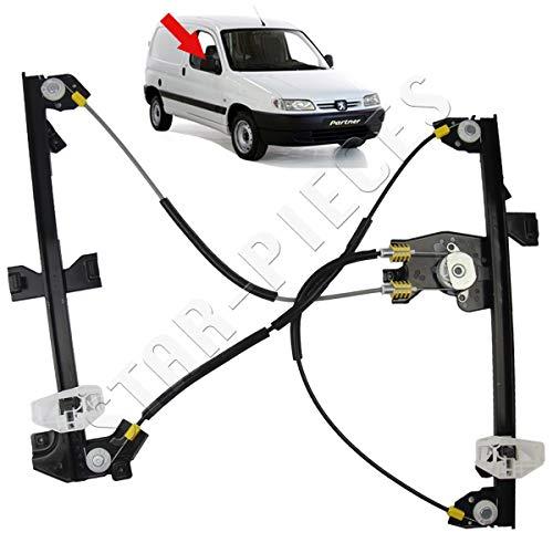 STARKIT PERFORMANCE Mécanisme lève vitre électrique Avant Droit sans Moteur pour Citroën Berlingo et Peugeot Partner de 1996 à 2008.