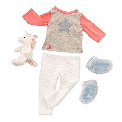 Our Generation BD30311Z - Ropa Clásica - Pijama unicornio , color/modelo surtido