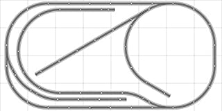 Train Layout #031 Bachmann HO EZ Track Nickel Silver - 4' X 8' - Train Set