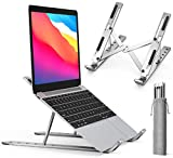 "Laptop Stand, iVoler Laptop Holder Riser Computer Tablet Stand, 6 Angles Adjustable Aluminum Ergonomic Foldable Portable Desktop Holder Compatible with MacBook,iPad, HP, Dell, Lenovo 10-15.6"" Silver"
