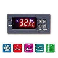 エレクトロニクス部品 高精度110V-220Vデジタルサーモスタット温度コントローラ温度計センサー湿度計モジュールSTC-3000