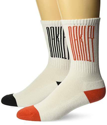 Oakley Mens Herren College (2 PCS Pack) Legere Socken, weiß, Large