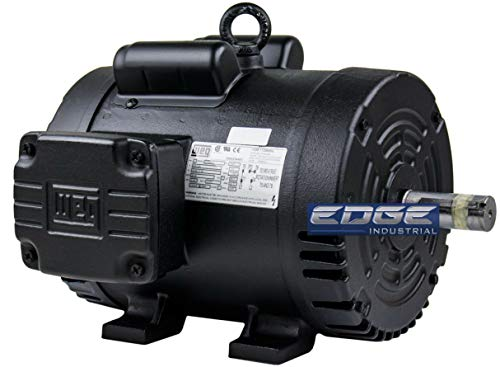 WEG 3HP 184T Single Phase AIR Compressor Electric Motor, 208-230V, 1750 RPM, 1-1/8' Shaft Diameter
