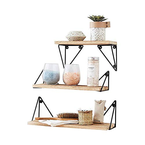 Amazon Com Floating Shelves By East World Set Of 2 Rustic Shelves Wall Mounted For Boho Decor Country Rustic Wall Decor Plant Shelf Or Bookshelf 30lbs White Wood Wall Shelf For Bedroom