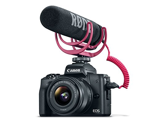 Canon EOS M50 Mirrorless Video Creator Kit with EF-M 15-45mm Lens, Rode VIDEOMIC GO Microphone, and Memory Card, Black
