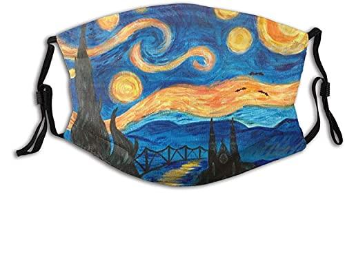 YRUI Van Gogh Noche estrellada para adultos, transpirable, máscara para el cuello, bufanda facial, cortavientos, transpirable, pesca, senderismo, correr, ciclismo