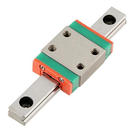 1pc Lwl7b Guía de riel lineal en miniatura 7 mm ancho Bloque deslizante Sistema de lubricación del carro de riel de movimiento para equipos automáticos de medición de precisión(55MM)