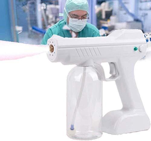 AMDIMOHB Desinfección Interior Desinfección Pistola de Pistola Rociador Azul Luz Nano Pistola de Vapor Máquina de espray de Pelo Ultra Fino Aerósol Agua Mist Gratker Pulverizador para hospitales Home