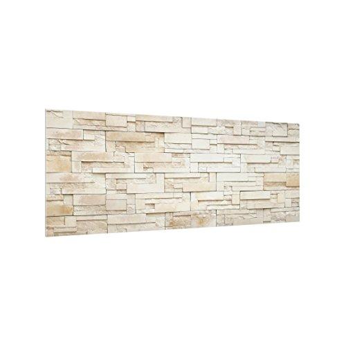 Bilderwelten Panel antisalpicaduras de Cristal - Provence Stones - Panorámico, Panel antisalpicaduras Panel de Vidrio para Cocina Panel Protector contra Salpicaduras, Tamaño: 40cm x 100cm