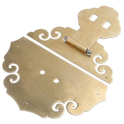 Cerrojo para cajas Cerradura de cerrojo resistente a la corrosión Latón, para cajas de regalo, Hebilla de bloqueo para cajas de madera