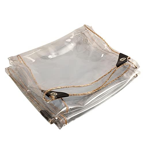 ASPZQ Telone Trasparente in PVC Telo Impermeabile, con Occhielli, 0,35 Mm for Terrazzo, Gazebo, Terrazzi, Paravento, Esterno, 450 G/m (Size : 1.2x3m)