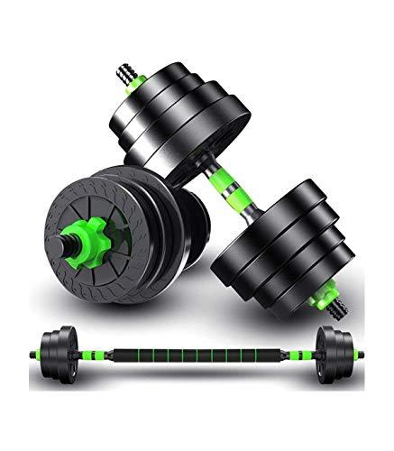 TradeShop - Kit 2IN1 BILANCIERE + MANUBRI con Pesi Regolabili COMPONIBILI Palestra Tot 10KG - 30473