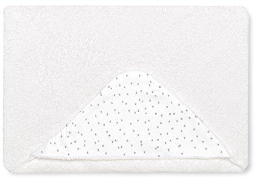 Bimbi 00708120 – Maxicapa Motif Stars, 100 x 100 cm, blanc et gris